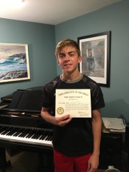 Winner in the National Guild of Piano Playing